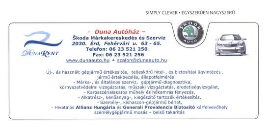 Dunarent Autó kereskedó érd és Batta