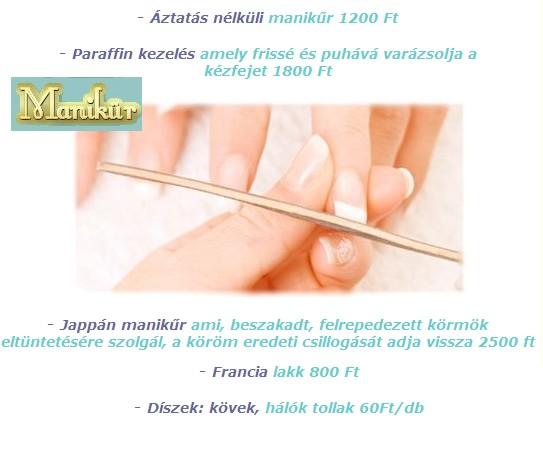 2010.02.19.Áztatás nélküli manikűr Parrafin kezelés férfimanikür Jappán manikür